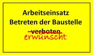 Schild_Arbeitseinsatz_mittel